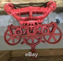 Antique Vintage Large 493a Star Starline Hay Trolley Carrier Farm Barn Harvard