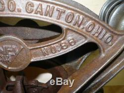 Antique Vintage Ney Mfg. Co. Canton OH Carrier No. 86 Hay Trolley