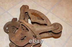 Antique Vintage Ney Mfg. Co. Canton OH Carrier No. 86 Hay Trolley with Drop Pulley