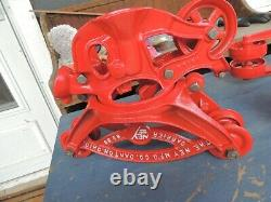Antique Vintage Ney Mfg. Co. Canton OH Carrier No. 88, Hay Trolley 181XX, 100XX