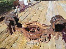 Antique Vtg Louden Machy swivel truck Barn Hay Trolley Carrier farm fresh tool