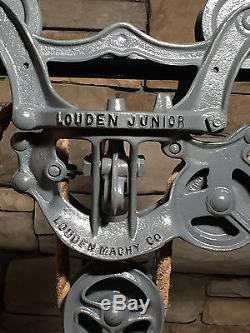 Antique cast iron hay trolley barn unloader farm pulley vintage hay carrier