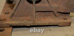 Antique mining 2 ton hand winch Nowry Bros Denver CO collectible truck jeep tool