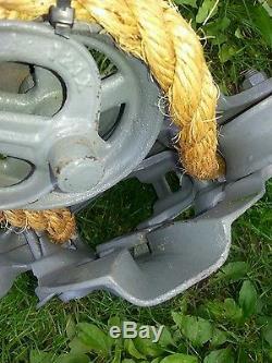 Antique ney mfg climax hay trolley cast iron vintage barn tool