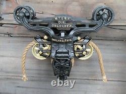 Antique/primitive F. E Myers Hay Trolley Original Restored Rustic Decor Lighting