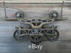 Antique/primitive F. E Myers Hay Trolley Original Restored Rustic Decor Lighting