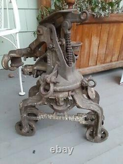 Antique/primitive F. E Myers Hay Trolley Original Unrestored Rustic Decor