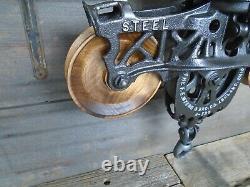 Antique/primitive F. E Myers Hay Trolley Restored Rustic Decor Lighting/w Track