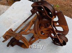 Antqiue Vtg Diamond No. 5 Cast Iron Hay Trolley Whitman & Barnes Mfg Co