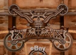 BEAUTIFUL Antique Vtg FE Myers Cloverleaf Barn Farm Hay Trolley Carrier Pulley