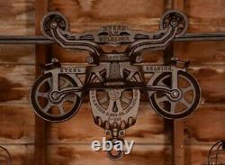 BEAUTIFUL Rustic Vintage Barn Hay Trolley Pulley Edison Light Farmhouse Decor 1