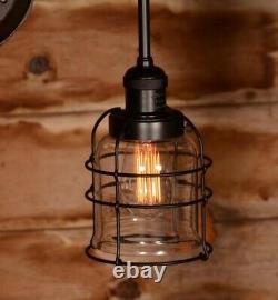 BEAUTIFUL Rustic Vintage Barn Hay Trolley Pulley Edison Light Farmhouse Decor 3
