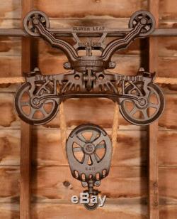 BEAUTIFUL Vintage Myers CLOVERLEAF Hay Barn Trolley Carrier Farm 7 Pulley Tool