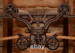 BEAUTIFUL Vintage Myers CLOVERLEAF Hay Barn Trolley Carrier Farm Pulley Tool