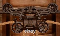 BEAUTIFUL Vintage Myers OK UNLOADER Hay Barn Trolley Carrier Farm Pulley Tool