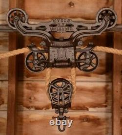BEAUTIFUL Vintage Myers OK UNLOADER Hay Barn Trolley Carrier Pulley
