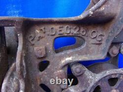 Barn Find Vintage ANTIQUE Cast Iron BOOMER HAY TROLLEY Dec 25th Christmas Patent