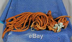 Block & Tackle Set 2 Pulleys + Rope Baltimore, MD Mayor Grady FIRE BOAT Salvage