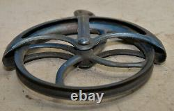 Cast Iron well pulley antique farm wheel steampunk industrial collectible tool