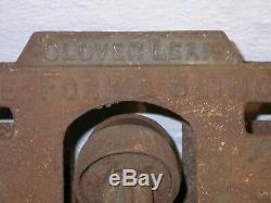 Clover Leaf Right Angle Fork & Sling Elevator Hay Trolley Pat. 1905 Barn Farm
