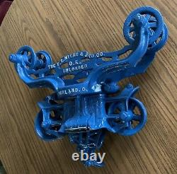 F. E. Myers & Bro Cast Iron Trolley O K Unloader & Hay Fork