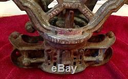 F. E. Myers & Bro Hay Barn Trolley Cloverleaf Unloader Pulley