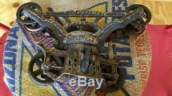 F E Myers Cloverleaf Unloader Adjustable Hay Barn Trolley Antique Pulley