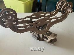 F. E. Myers Hay Trolley OK Unloader Swivel Hay Trolley Ashland OH Rustic Vintage