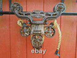 F. E. Myers OK Unloader Hay Trolley with Drop Preserved Barn Pulley Tool Vintage