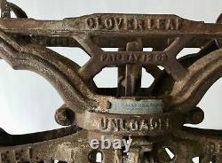 FE Meyers & Bro Clover Leaf Ashland OH Cast Iron Hay Trolley Unloader