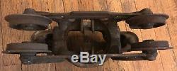 FE Meyers & Bro Clover Leaf H250 H248 Ashland OH Cast Iron Hay Trolley Unloader