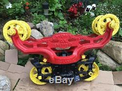 FE Myers Bros Vtg OK Unloader Hay Trolley Carrier Barn Pulley Antique Farm G