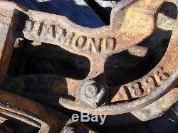 Fabulous Original Working IMPROVED DIAMOND cast iron hay trolley