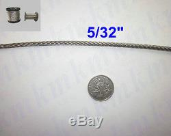 Free Ship 200FT/60M 1/64(0.4MM) T316 Grade 7X7 Stainless Steel Wire Rope Cable