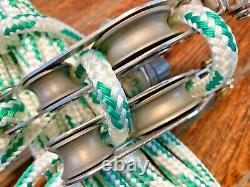 GARHAUER MAIN SHEET, VANG 41 BLOCK/TACKLE With40' NEW 3/8 LINE