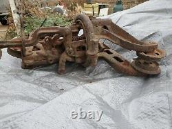 Giant sling, hunt helm ferris hay trolly hoist, 1916, rope, lift, carrier