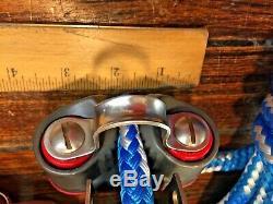 HARKEN 3 MIDRANGE 76MM 41 MAIN SHEET, VANG, BLOCK & TACKLE With50' NEW 1/2LINE