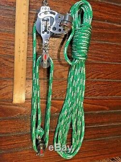 HARKEN 71 57MM HEXA RATCHET MAIN SHEET, VANG, BLOCK&TACKLE, PULLEYS With40' LINE