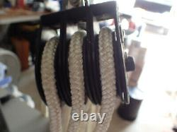 HARKEN Triple Block and Tackle with Rope Cam Lock & Meat Hook Fishing Hunting