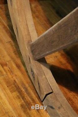 Huge 5-foot Wood Barn Pulley Wheel Industrial Light Chandelier Table top Wedding