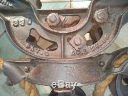 Hunt Helm & Ferris Hay Trolley, Barn Trolley, Cast Iron Primitive, Antique