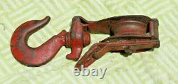 Industrial Heavy Duty #6 Block and Tackle Pulley. Steel