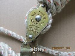 Klein Rope Block With Standard Snap Hooks With Rope NEW