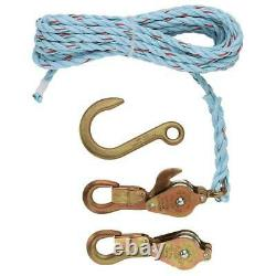 Klein Tools Block Tackle Rope Forged Hook Cat 258 Lightweight Galvanized Steel