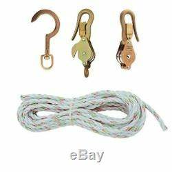 Klein Tools H1802-30S Block and Tackle with Guarded Snap Hooks