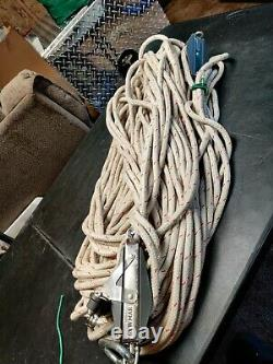 LEWMAR PULLEY BLOCK/TACKLE With 233' OF Arborist Climbing Rope (READ) #2