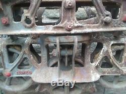 Large Jamesway Farm Barn Hay Trolley Rare Type Vintage