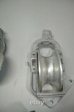 Lot Of 4 Sherman Reilly Pulley Aluminum Snatch Block Pulley 2500 Lb