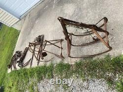 Lot of Antique Hay Trolleys