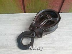 + Louden Standard Hay Trolley with Drop Preserved Barn Pulley Tool Vintage +